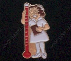 Nurse with Thermometer Pin #GE05364