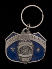American Lawman Pewter Key Chain #GE2008