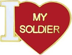 I Heart (Love) My Soldier Pin #90-15343