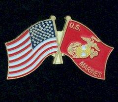 USMC/USA Flag Pin #14810L