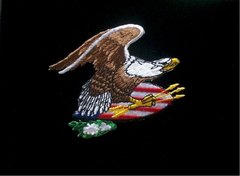 USA Patriotic Eagle Patch #GE3039