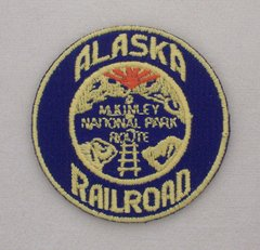 Alaska Railroad Iron-On Embroidered Patch #09-0400