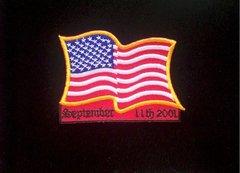 September 11, 2001 9/11 Flag Patch #GE3142