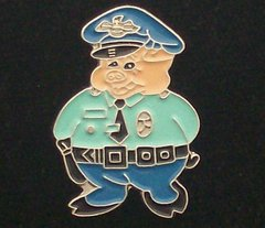 Police Pig in Uniform Hat Pin #63330