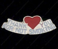 Thank You For Not Smoking with Heart Hat Pin #GE63253