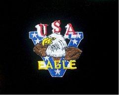 V for Victory USA Eagle & Flag Patch #GE0378