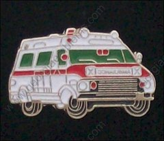 Ambulance Red Trim Hat Pin #GE05373