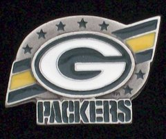 Green Bay Packers Pewter NFL Team Logo Pin