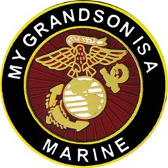 My Grandson Is A Marine Pin #93-15813