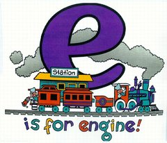 E is for Engine Railroad Train T-Shirt **DISCONTINUED