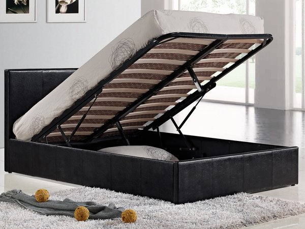 berlin ottoman king size bed frame black