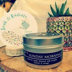 SUNDAY MORNING Travel Tin Candle