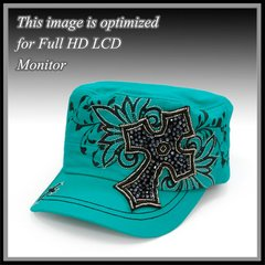 Teal Cross Cap