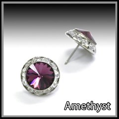 Amethyst Crystal Earring