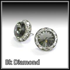 Black Diamond Crystal Earring