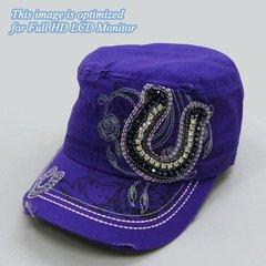 Purple Horseshoe Cap