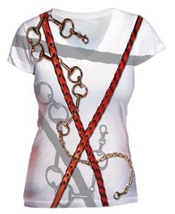 Bits and Braided Reins Vneck