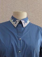 Light Blue Ladies Western Show Shirt