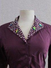 Deep Purple Ladies Western Show Shirt