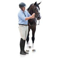 Ovation® EuroWeave™ Front Zip 4-Pocket Knee Patch Breeches - Men's