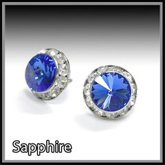 Sapphire Crystal Earrings