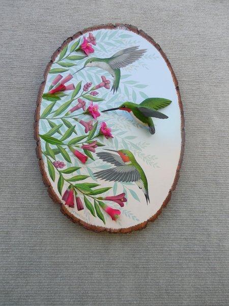 Hummingbirds (large) SOLD