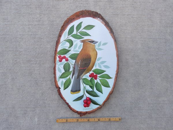 Cedar Waxwing   (small).   SOLD