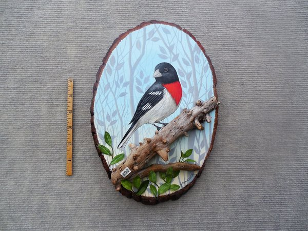 Rose Breated Grosbeak (small) SOLD