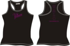 "HALO ""Vixen"" Ladies Razerback Tank Top - Black"