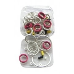 Tub of 125 Assorted Rings - Choose White or Black