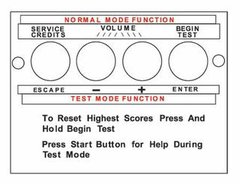 16-9166 Decal For Diagnostic Switch
