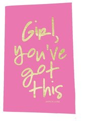 "notebook by aspen lane - ""girl, you've got this"" pink"
