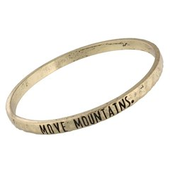 antique gold bangle - move mountains