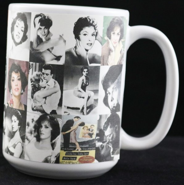 gina lollobrigida 15 oz photo collage mug bob s mugs n more