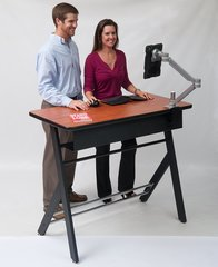 "Yze Standing Desk for individuals 4'6"" to 5'3"""