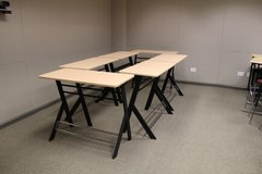 "conference & touchdown 4' x 12' x 38""H or 42""H (6 tables)"