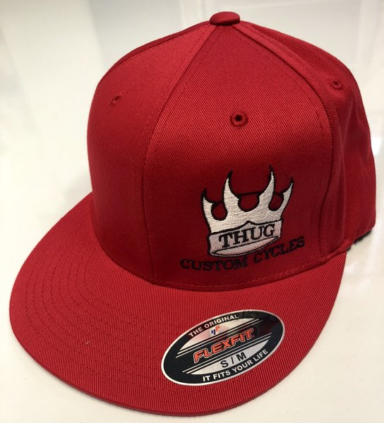 THUG Flex Fit Red w/ White Crown