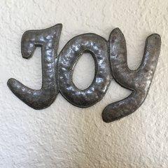 Hammered Metal Word Art - Joy