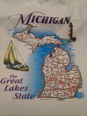 Michigan Map Shirt #5100