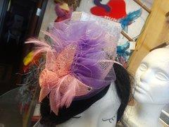 Pink and Lavender Fascinator #3296