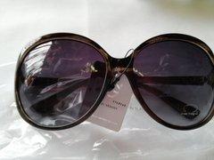 Brown and Black Snakeskin Design Sunglasses