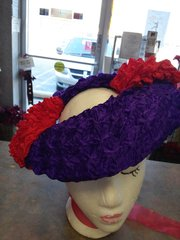 Purple with Red Popcorn Fascinator