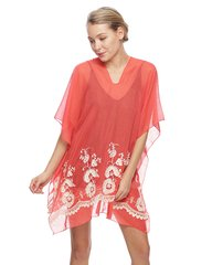 Coral Cover-Up Poncho #3774