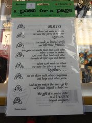 Sisters Poem Sticker