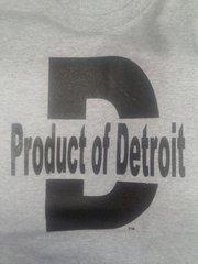 Gray/Black Product of Detroit Shirt #4018