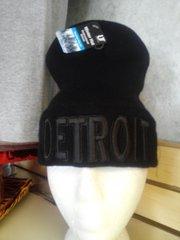 Black on Black Detroit Knit Cap 5878