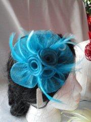 Teal Flower Pin
