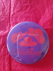 Michigan Red Hat Button #2605
