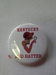 Kentucky Red Hatter Button-B