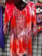 Reddish Tunic Top #2965 27 W x 32 L